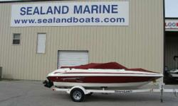 Like new 2011 Larson LX 850, 18 1/2' bowrider with a Mercruiser 4.3 V6 sitting on a single axle Shoreland'r trailer with brakes. This boat was bought new as a leftover in August of 2013 and only has 30 hours on it. Professionally detailed and stored