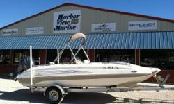 2011 Nautic Star 205 SC Deck Boat on the Florida Alabama Gulf Coast. This is a hard to find used Nautic Star 2011 205 sc. It is equipped with a 4 stroke Yamaha 115hp and a new Magic Tilt, aluminum trailer. Option and features include; Bimini Top,