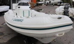 This 2011 Nautica 13.5 Widebody is in excellent condition. Hull and tubes have been well maintained and show little signs of damage. The widebody helps give this boat a very dry ride pushing water away from the cockpit and passengers. Built with
