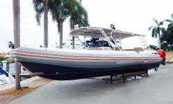 Incredible Tender and Offshore Boat! This Nautica RIB was custom built to the highest standards to be used as a versatile day boat and tender for a super yacht. She is tremendously stable at rest and equally adept in rough water conditions.