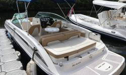 2011 Sea Ray SunDeck 240. Sea Rays Sundeck Series takes traditional deck boats to a new level. Sporty and comfortable, this boat is in great shape and features many desirable options like: All Sports tower, Tower Speakers, Fresh Water Shower, SeaDek
