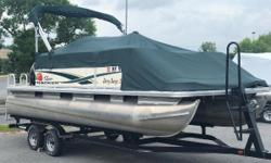 2011 Sun Tracker Party Barge 20 with 60ELPT Big Foot and trailer Nominal Length: 21' Length Overall: .1' Beam: 0 ft. 1 in. Stock number: 1012921