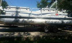 2011 Sun Tracker Party Barge 24 For sell is my 2011 sun tracker party barge 24 Bought new in 2012 off Bass Pro Shops showroom floor It has a 115 hp merc on it with only 9 hours on it Boat has only been put on the water 3 times. Has been well taken care of