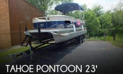 Actual Location: Lawrenceburg, IN - Stock #079249 - If you are in the market for a pontoon, look no further than this 2011 Tahoe Pontoon 2300 LT Cruise, just reduced to $27,500 (offers encouraged).This boat is located in Lawrenceburg, Indiana and is in