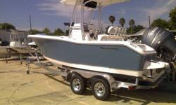 Compass, 1/2 Dive Platform, Bolsters, Bow Bolster, Fresh Water Washdown, Leaning Post and Potti This engine is eligible for the Yamaha 4- Stroke Revolution Promotion if purchased by March 31, 2011 Come See it in person at Pelican Marine Center Inc. 13323