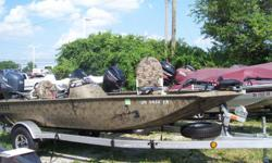 2011 Xpress XP160, STK# 8 CAMO POWERED BY YAMAHA 50 TLR, LOWRANCE ELITE 5 HDI, MINNKOTA 55 LBS/12V, COVER, 2 FOLD DOWNS, 2 BANK CHARGER. Nominal Length: 16' Stock number: 8