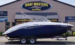 2011 Yamaha SX 240 CLEAN BOAT! -FULL MOORING COVER -SWIVEL TONGUE ON TRAILER -SPARE TIRE -BIMINI TOP -SIDE MOUNT TABLE WITH DUAL POSITION MOUNTING -SWIM DECK LADDER -SWIM DECK RADIO REMOTE -REAR WALK THRU FILLER CUSHION -BUILT IN ROLLER COOLER -LOCKABLE
