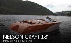 Actual Location: Missoula, MT - Stock #082021 - If you are in the market for a runabout, look no further than this 2012 Nelson Craft 18 Runabout, just reduced to $10,250 (offers encouraged).This boat is located in Missoula, Montana and is in great