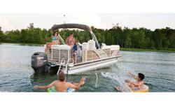 New 2012 With an oversized aft deck, plenty of room to move around, overstuffed chaise lounges, and easy access to the water, the Aqua Patio 220 AD is built for fun. Category: Powerboats Water Capacity: 0 gal Type: Pontoon Holding Tank Details: