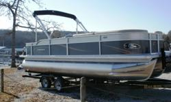 "Stock ID: 98985Specs Length at Water Line (LWL): 282 Length Overall (LOA): 23' 6"" Max. Capacity (persons/lbs): 14 Beam: 102 Weight (w/base engine): 2455 Pontoon Diameter: 25"" Fuel Capacity: 45 Max HP - Standard/CP2: 150/175 Max HP - CP3 (3 pontoons):"