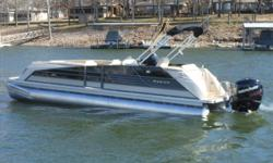 "Stock ID: 100956SpecsLength Overall (LOA): 23' 10""Beam: 102Pontoon Diameter: 26""Max HP - Standard/CP2: 150/175Max HP - CP3 (3 pontoons): 200Max HP - CP3 Performance Plus: 250Capacity - Standard: 2044/14Capacity - CP3: 2214/15Weight (approx) without"