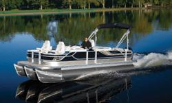 "Stock ID: 98601SpecsLength Overall (LOA): 25'Beam: 102Pontoon Diameter: 26""Max HP - Standard/CP2: 150/200Max HP - CP3 (3 pontoons): 200Max HP - CP3 Performance Plus: 300Capacity - Standard: 2388/16Capacity - CP3: 2558/17Weight (approx) without Engine:"