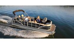 Luxury Sit in the lap of luxury aboard the ultimate entertaining pontoon, with premium features like deep, comfortable seating throughout, beautiful elevated helm station and, of course, the head-turning wet bar, complete with two bar stools and a