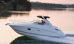 The sleek, contemporary lines of the 280 Sundancer make it a standout in any marina, but this express cruiser is not meant to sit at the dock. A dynamic deep V-hull provides a smooth ride in any conditions, while the stylish interior promises comfortable