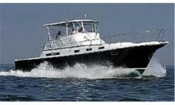 This is the new Albin 45 Command Bridge that is showing up at boatshows and yacht clubs around the country. This is a new vessel and can be ordered with a variety of engines at your choice. She isbig, and she's beamy, a full 16' beam give her