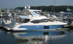 Newly Delivered and Listed 2012 Azimut 64 Fly Bridge. A Great Opportunity to purchase a new 64 at a discounted price. Professionally Captain maintained since delivery on 7/29/2011, and in new condition, she is ready to go with just 150 hours on engines.