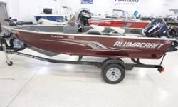 THIS USED BOAT PACKAGE INCLUDES: 2012 ALUMACRAFT 165 CLASSIC SC, EVINRUDE 50 E-TEC, KARAVAN BUNK TRAILER, FULL VINYL MINNKOTA 55PDV2 TROLLING MOTOR,  3RD SEAT, SPARE TIRE,  DEEP CYCLE AND STARTING BATTERIES. CALL MARINE SALES FOR YOUR