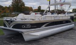 2012 Avalon 24 Windjammer PACKAGED WITH A MERCURY 9.9 PRO-KICKER ENGINE! Beam: 8 ft. 6 in. Hull color: Black Tan Stock number: Used1337