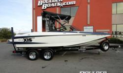 """Sale Pending Payments as low as $315 / mo. * WE HATE THE WORD CROSSOVER Keith Lyman says, """"The wake is all around world class! . . . great for ridin' big or for just poppy wake to wake riding."""" At the same time, this boat produces a nice"""