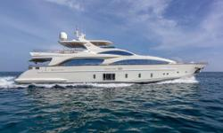 The Azimut Grande 105 Andiamo! has all the amenities and options of a 130-foot yacht.  Her gorgeous contemporary 5 stateroom layout offers ample space for entertaining and relaxation. She has a full-time professional Captain and crew and has