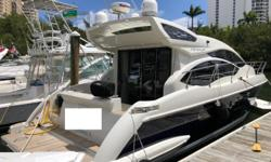 2012 Azimut 40S -- Lightly Used Vessel with 395 Hours on Cummins Diesels -- Spacious 2 Stateroom + 2 Head LayoutLoaded with Upgrades: Hydraulic Swim Platform, XENTA Joystick Control, Freshly Painted Blue Hull, Large SunRoof in Salon, Satellite TV, Teak