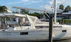 Little used but very well equipped 2012 Beneteau Oceanis 48. She is the 3 stateroom/ 2 head model, featuring a large forward master and two mirror staterooms aft. The boat features a Yanmar 75 hp diesel engine with less than 350 hours 7.6 Onan generator