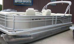 Yamaha 50 hp 4 stroke EFI Equipped with rear swim ladder, Port side pit group, raised captains helm, am fm blue tooth radio, fish / depth finder, docking lights, bimini and a mooring cover. Nominal Length: 22' Stock number: N/A