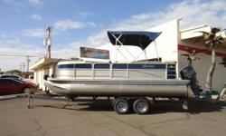 2012 Berkshire 210CL LTD Payments as low as $194 / mo. * Fish, cruise or pull your favorite water toy. The versatile LTD Series comes with an impressive list of amenities and a stylish exterior D Railing. Low hour pontoon in excellent condition. Only 36