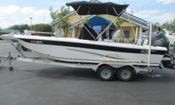 Very NiceUltra Elite Series With added power pole GPS w/side image, I-pilot trolling motor, console cover and bimini top. The result is a boat of tremendous value, with a lengthy standard feature list, excellent fit and finish, and above all,