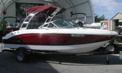 GREAT SKI AND FUN PLATFORM. HIGH QUALITY FOLDING ARCH TOWER. CHAPARRAL QUALITY. MERCRUISER POWER (220 HP). SINGLE AXLE TRAILER WITH BRAKES. MUCH MORE. PURCHASED THIS UNIT FROM OUR INVENTORY IN 2013 HOPING THAT THE KIDS