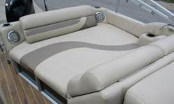 Features: ONE OWNER Mercury 115 ELPT 4S Full Mooring Cover Ski Tow Bar Vinyl Flooring on Rear Docking Lights Dual Side-by-Side Rear Lounger Fish Finder/ Depth Sounder GPS Movable Cup Holders 12 Volt Receptacle Upgraded AM/FM CD Stereo Boarding Ladder on