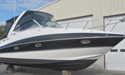 2012 Cruisers 310 Express, Powered By Twin Volvo 5.0 GXi Stern Drivesw/ Only 323 Hours !!! Black Hull Color, Kohler Generator, Garmin 531S GPS/ Map, Raymarine VHF, Fusion Stereo, A/C, Water Heater, Electric Head, Bimini Top w/ Full Enclosure, Walk-Thru