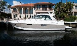 """$25K REDUCTION: """"B'Shert VII"""" is a beautiful, one owner Cruisers 48 Cantius 2012. She has only 140hrs original hours and has never been slept on. The seller has taken meticulous care --- full detail and wax 3 times a year and oil serviced annually."""