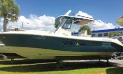 This 2012 295CC Everglades is super clean and lift kept. The owners have purchased a larger Everglades and have priced this boat for a quick sale. She is equipped with twin 300HP Four Stroke Yamahas that have warranties until May 2017. Other
