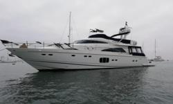 2012 78' Fairline Squadron -- Meticulous One Owner Boat Since New -- US Spec Vessel in Immaculate ConditionSpacious 4 Stateroom Layout with Dual Master Staterooms & 5 Heads + 2 Crew QuartersLoaded with Upgrades: Bow & Stern Thrusters, Twin Onan