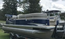 GREAT CONDITION! 2012 Godfrey Sweetwater Sweet Water 2286 Very Clean Used Pontoon!  Includes the below! Yamaha F70 Fourstroke Galvanized Trailer Vinyl is in Great Shape Bimini Top Reclining Helm Chark Stereo Full Instrumentation (Fuel,