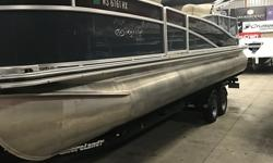 Luxury Tri Toon on a trailer and priced to sell. Trades considered. CANVAS BIMINI TOP MOORING COVER ELECTRICAL BATTERY ELECTRONICS AM/FM CD PLAYER STEREO MECHANICAL POWER TRIM STOCK# B16983 TRAILER BRAKE-TRAILER Additional Equipment: