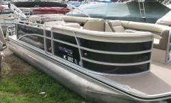 Mercury 60 hp 4 stroke EFI Sharp Pontoon in very good condition. Comes with rear swim ladder, rear table, am fm cd, docking lights, bimini and a mooring cover. Nominal Length: 20' Length Overall: 20' Beam: 8 ft. 6 in.