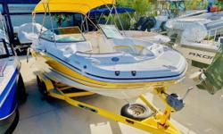 Freshwater used only! This boat was a trade in that came all the way from Michigan. Used only on Freshwater, and serviced at 100 hours. One owner, well kept at an indoor marina, and with no mechanical issues. Freshwater used -Engine hours 155. The