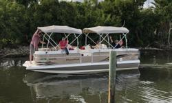 This stylish Hurricane is a one-owner lightly used and lovingly maintained beauty.  Like your living room, the Fundeck 236 hosts a deck that is so spacious that any boater can appreciate the functionality of this roomy area.  Rated for up to 12