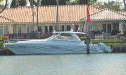 """Intrepid's Flagship, 47 Sport Yacht Walkaround with all the right equipment. She boasts very low hours and squeakyclean. Removable, Attractive """"VINYL"""" graphics and matchingengines. The perfect combination for the elite yachtsman! QUAD"""
