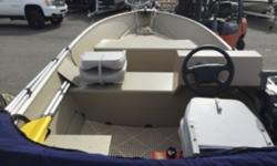 2012 Lowe A1467 This Package includes an anchor, fenders, navigation lights, 2 seats, 2 seat cushions, 2 paddles, bimini top, full boat cover, 3 gallon fuel tank, a Honda 15hp fourstroke outboard and a Karavan trailer with load guides. This boat is very