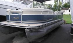2012 Lowes 230 SS Pontoon boatMercruy 90Hp 4 stroke engine 195 HrsVinyl floorPlaypen coverBimini top