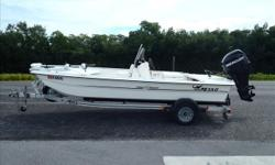 Powered by a 60hp Mercury Four Stroke with under 50 hours and Factory Warranty through 2017! GREAT little back country boat! Loaded with all the extra's you could want to go deplete the inshore population! Boat package comes with: Trolling Motor, GPS