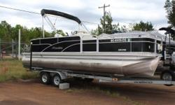 2012 MANITOU ENCORE PRO ANGLER 22 Fish Finder, trolling motor, cover included! 22 Angler great for fishing and cruising. 2 live wells 4 fishing seats changing room bimini top Nominal Length: 22' Length Overall: 22' Engine(s): Fuel Type: Other Engine