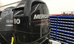 """REDUCED PRICE 2012 Mercury Marine 90HP GREAT MOTOR This sweet 90hp Mercury is a 2012 Four stroke. Its got a 20"""" shaft with controls all for just $6995 Stock number: 1B949099"""