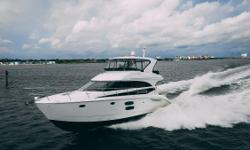 This Meridian 441 is in exceptional condition with all services up to date. She has several desirableupdates, a cruise speed of 30mph and optional 480hp Cummins. Checkout the drone video! Key Features 480hp HO engine option 500 hr