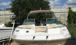 Located at Harbor View Marine Pensacola, Florida Combine size with performance and that's what you get with the 230 DC. Check out the fully enclosed walk in dressing room with optional portable toilet, dual helm seats, wrap around seating in the cockpit