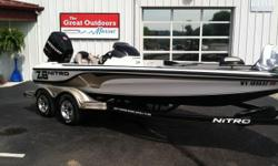 THE GREAT OUTDOORS MARINE - THE FUN STARTS HERE! 2012 NITRO Z8 2012 MERCURY 200HP 2-STROKE OUTBOARD 2012 TRAILSTAR TANDEM AXLE TRAILER W/ BRAKES Lowrance Hook2 9 Triple Shot flush at console Hot foot Trim lever Tilt hydraulic steering MinnKota Maxxum 70#
