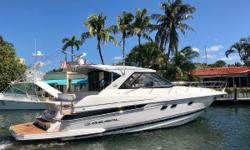 ***Easy to see in Fort Lauderdale,FL*** This Regal 46 SportCoupe is ready for her next owner. She has been extremely well maintained by her owners who have been aboard for the last 300 hours. Aside from being a great looking boat, she is extremely